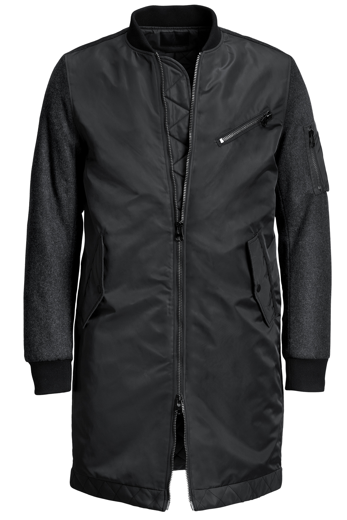 Two Way Zip Full Length Bomber from H&M – Bold but Beautiful