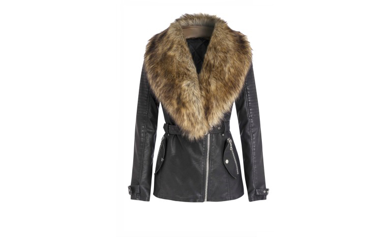 Winter-Coats—Star-Julien-McDonald-Leather-Coat-With-Fur-Colar-Debenhams