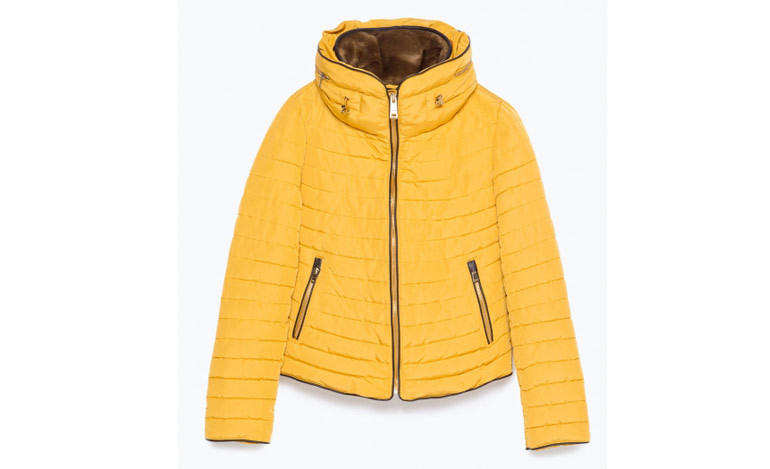 Winter-Coats—Zara-Yellow-Jacket-with-Fur-lining