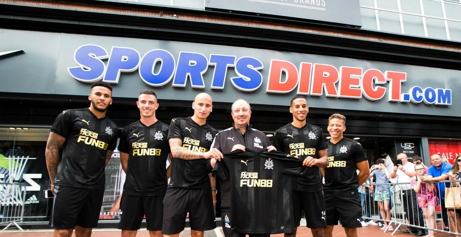 Newcastle United in Sports Direct Dublin