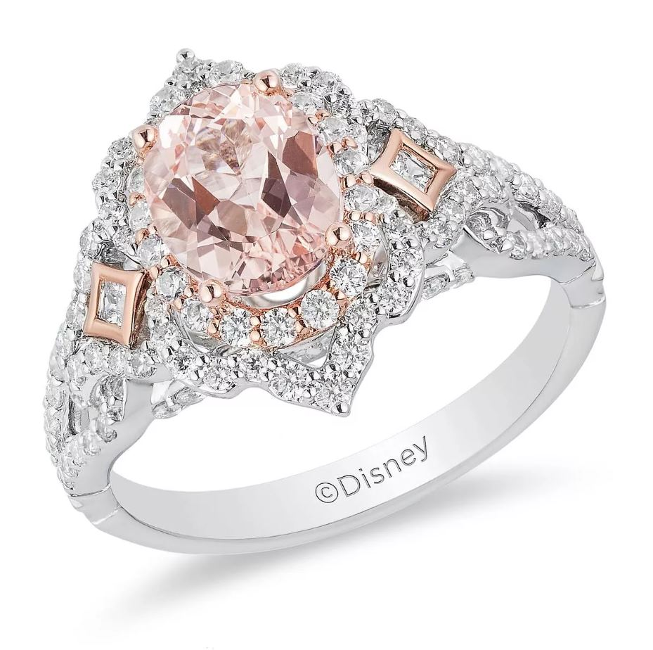 Enchanted Disney Fine Jewelry Diamond Morganite Aurora
