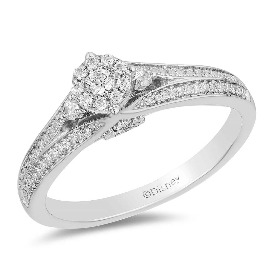 Enchanted Disney Fine Jewelry Diamond Elsa Ring 1 510